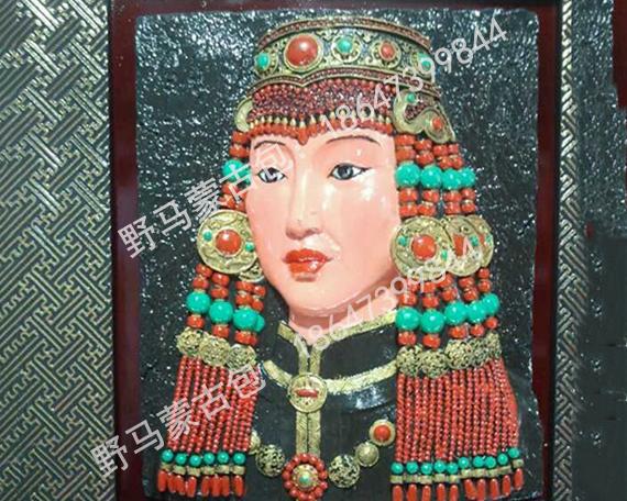 蒙古人像雕塑